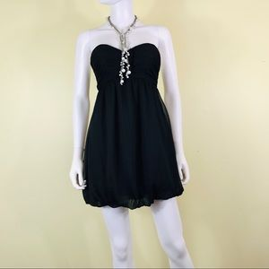 Guess Black Strapless, Balloon Hem Dress